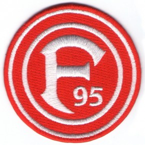SOCCER Fortuna Duesseldorf Patch 100% embr.  national league D=3.15 inches