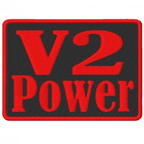 BIKER AUFNÄHER PATCH V2 Power 9X6,5cm