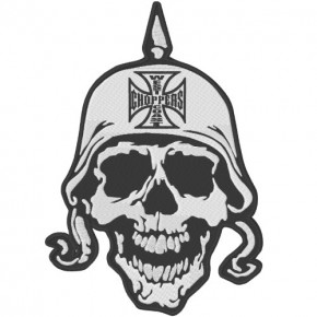 AUFNÄHER PATCH WEST COAST CHOPPERS DEATH HEAD 16X24cm