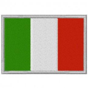 AUFNÄHER PATCH FLAGGE FAHNE ITALIEN ITALY 8x5,5cm