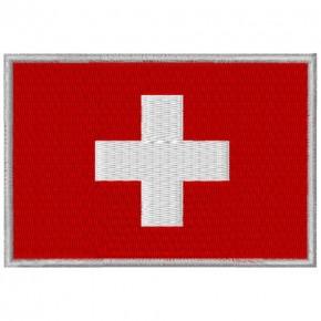 AUFNÄHER PATCH FLAGGE FAHNE SCHWEIZ SWITZERLAND 8x5,5cm