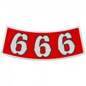 ANGELS BIKER AUFNÄHER PATCH 666 12X5cm