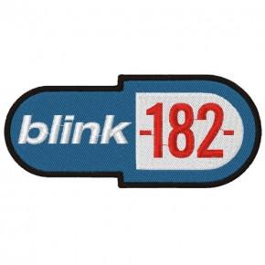 MUSIK FAN AUFNÄHER PATCH BLINK182 12X5cm 100 gestickt