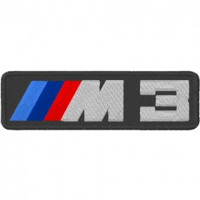 AUTO FAN AUFNÄHER PATCH BMW M3 10x3cm