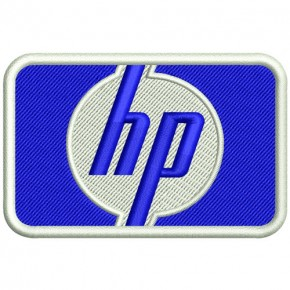 RACING PATCH AUFNÄHER HP HEWLETT PACKARD 8x5cm