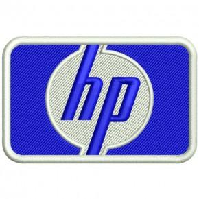 RACING PATCH AUFNÄHER HP HEWLETT PACKARD 8x5cm