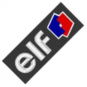 RACING FAN PATCH AUFNÄHER ELF OIL 10x4cm