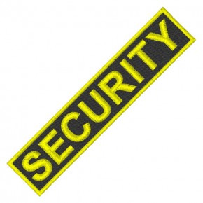 PATCH AUFNÄHER SECURITY 12x2,5cm