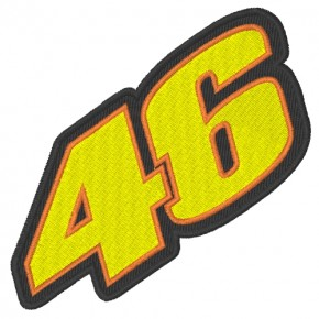 RACING FAN PATCH AUFNÄHER 46 VALENTINO ROSSI 10x5cm
