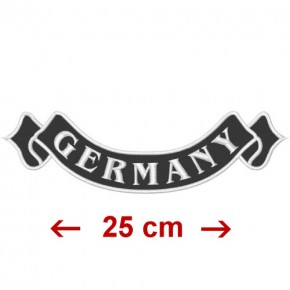 BIKER PATCH AUFNÄHER GERMANY 25x7cm