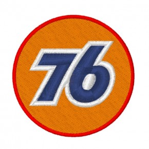 RACING NASCAR PATCH AUFNÄHER INTRA OIL 76 D=7cm
