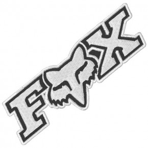 RACING BIKER AUFNÄHER PATCH FOX 10x3,5cm