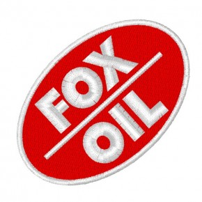 RACING FAN AUFNÄHER PATCH FOX OIL 8x5cm