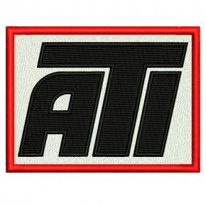 RACING FAN AUFNÄHER PATCH ATI 8x6cm
