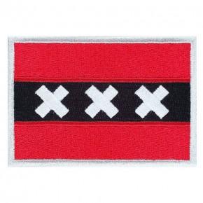 AUFNÄHER Amsterdam PATCH FLAGGE FAHNE 8x5,5cm
