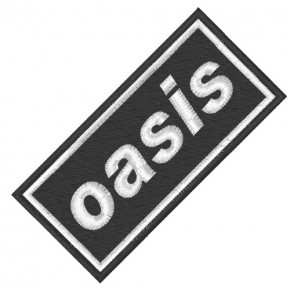 MUSIK FAN AUFNÄHER PATCH OASIS 8x4cm