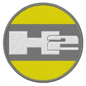 TRUCK FAN AUFNÄHER PATCH HUMMER H2 D=8cm