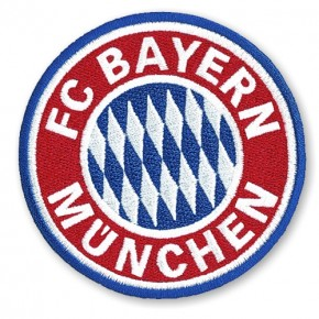 FC BAYERN MÜNCHEN AUFNÄHER Fußball FUSSBALL PATCH D=8cm