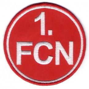 Fußball FUSSBALL AUFNÄHER PATCH 1. FCN NÜRNBERG D=8cm