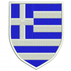 AUFNÄHER PATCH WAPPEN LANDESWAPPEN Griechenland 100% gestickt 6,5x8cm