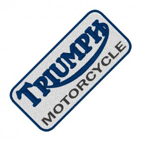 BIKER FAN AUFNÄHER PATCH TRIUMPH MOTORCYCLE 10x4,5cm