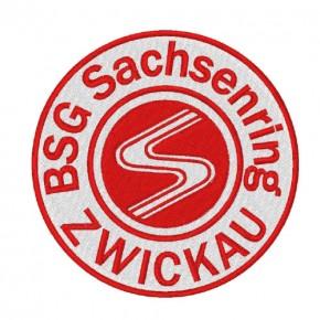 Fußball FUSSBALL AUFNÄHER PATCH BSG SACHSENRING ZWICKAU D=8cm