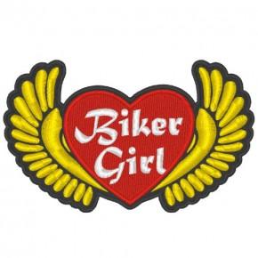 MOTORRAD LADY ANGELS PATCH AUFNÄHER BIKER GIRL 12x7cm