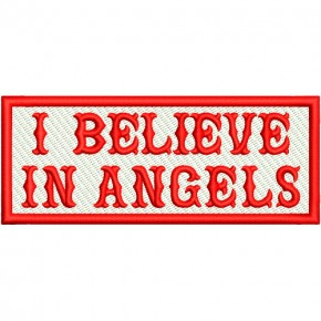 I BELIEVE IN ANGELS BIKER PATCH AUFNÄHER 10x4cm