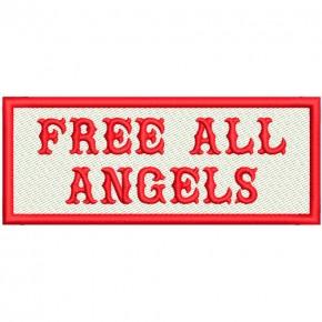 FREE ALL ANGELS BIKER PATCH AUFNÄHER 10x4cm