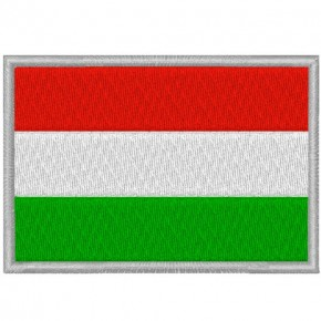 UNGARN HUNGARY FAHNE FLAG PATCH AUFNÄHER 8x5,5cm