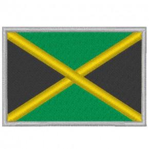 JAMAICA FAHNE FLAG 100 gest. PATCH AUFNÄHER 8x5,5cm