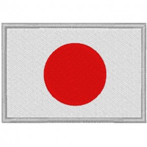 JAPAN FAHNE FLAG 100 gest. PATCH AUFNÄHER 8x5,5cm