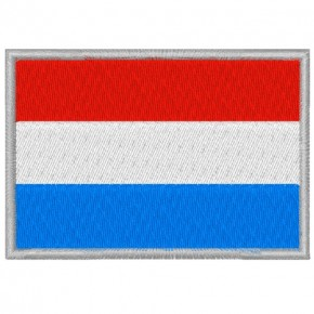 LUXEMBURG LUXEMBOURG FAHNE FLAG PATCH AUFNÄHER 8x5,5cm
