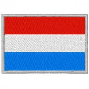 LUXEMBURG LUXEMBOURG FAHNE FLAG PATCH AUFNÄHER 8x5,5cm