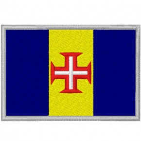 MADEIRA FAHNE FLAG 100 gest. PATCH AUFNÄHER 8x5,5cm