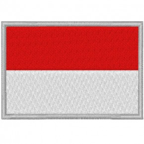 MONACO FAHNE FLAG 100 gest. PATCH AUFNÄHER 8x5,5cm