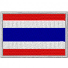 THAILAND FAHNE FLAG 100 gest. PATCH AUFNÄHER 8x5,5cm