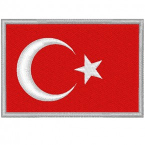 TÜRKEI TURKEY FAHNE FLAG PATCH AUFNÄHER 8x5,5cm