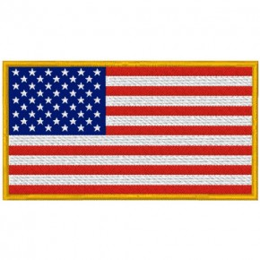 US USA AMERICA FAHNE FLAG PATCH AUFNÄHER 10x5,5cm