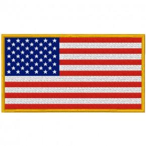 US USA AMERICA FAHNE FLAG PATCH AUFNÄHER 10x5,5cm