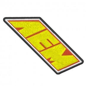 AEM LOGO NASCAR RALLY RACING PATCH AUFNÄHER 8x2,6cm