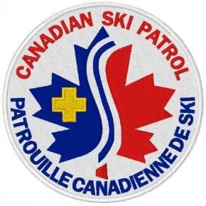CANADIAN SKI PATROL AUFNÄHER APPLICATION PATCH D=8cm