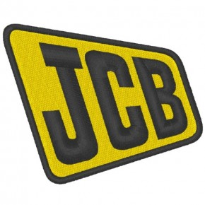 JCB TRUCKER AUFNÄHER PATCH 8x6,5cm