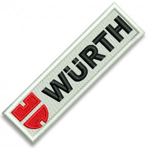 EMBROIDERED PATCH Würth SKI Team 8x2cm ; 3.15x0.79 inch
