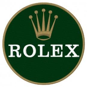 ROLEX UHR RACING PATCH AUFNÄHER APLIKATION D=8cm