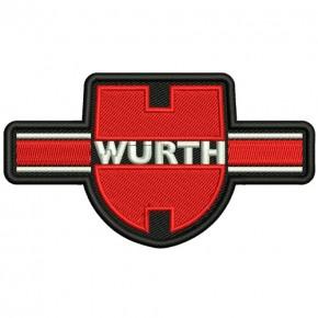 WÜRTH RALLY RACING PATCH AUFNÄHER APLIKATION 10x6cm