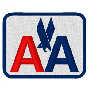 AMERICAN AIRLINE PATCH AUFNÄHER APLIKATION 8x6,3cm
