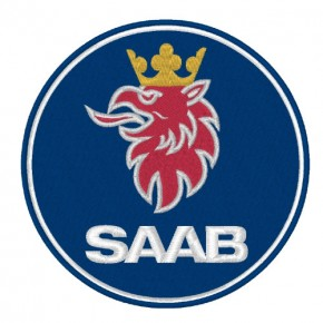 SAAB RACING RALLY PATCH AUFNÄHER APLIKATION D=8cm
