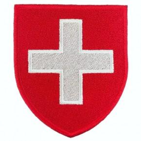 AUFNÄHER PATCH WAPPEN STADTWAPPEN Schweiz 100% gestickt 6,8x8cm