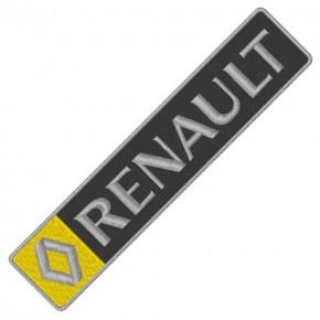 RENAULT CAR AUTO RALLY AUFNÄHER PATCH APLIKATION 18x4cm